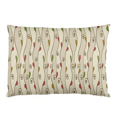 Flower Floral Leaf Pillow Case by AnjaniArt