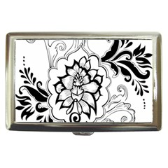 Free Floral Decorative Cigarette Money Cases by AnjaniArt