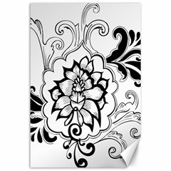 Free Floral Decorative Canvas 24  X 36  by AnjaniArt