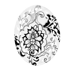 Free Floral Decorative Ornament (oval Filigree) by AnjaniArt