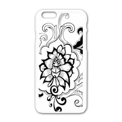 Free Floral Decorative Apple Iphone 6/6s White Enamel Case by AnjaniArt