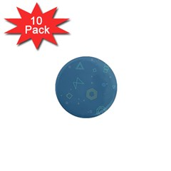 Geometric Debris In Space Blue 1  Mini Magnet (10 Pack)  by AnjaniArt