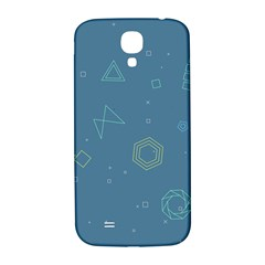 Geometric Debris In Space Blue Samsung Galaxy S4 I9500/i9505  Hardshell Back Case by AnjaniArt