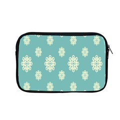 Geometric Snowflake Retro Snow Blue Apple Macbook Pro 13  Zipper Case by AnjaniArt