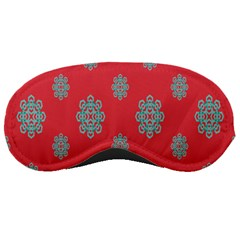 Geometric Snowflake Retro Red Sleeping Masks by AnjaniArt