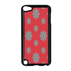 Geometric Snowflake Retro Red Apple Ipod Touch 5 Case (black) by AnjaniArt