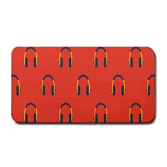 Headphones Red Medium Bar Mats by AnjaniArt