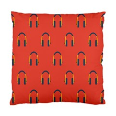 Headphones Red Standard Cushion Case (two Sides) by AnjaniArt