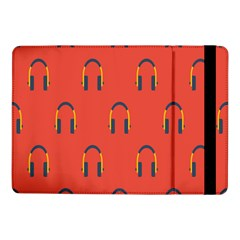 Headphones Red Samsung Galaxy Tab Pro 10 1  Flip Case by AnjaniArt