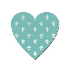 Geometric Snowflake Retro Snow Heart Magnet by AnjaniArt