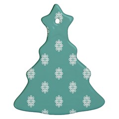 Geometric Snowflake Retro Snow Ornament (christmas Tree)  by AnjaniArt
