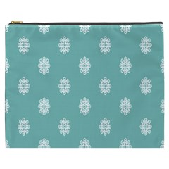 Geometric Snowflake Retro Snow Cosmetic Bag (xxxl)  by AnjaniArt