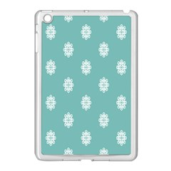 Geometric Snowflake Retro Snow Apple Ipad Mini Case (white) by AnjaniArt