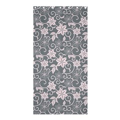 Gray Flower Floral Flowering Leaf Shower Curtain 36  X 72  (stall)  by AnjaniArt