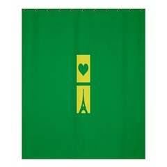 Heart Love Paris Eiffel Tower Perancis Shower Curtain 60  X 72  (medium)  by AnjaniArt