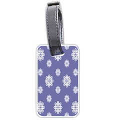 Geometric Snowflake Retro Purple Luggage Tags (one Side)  by AnjaniArt