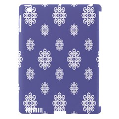 Geometric Snowflake Retro Purple Apple Ipad 3/4 Hardshell Case (compatible With Smart Cover) by AnjaniArt