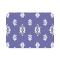 Geometric Snowflake Retro Purple Double Sided Flano Blanket (mini)  by AnjaniArt