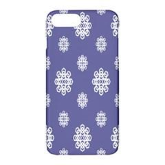 Geometric Snowflake Retro Purple Apple Iphone 7 Plus Hardshell Case by AnjaniArt