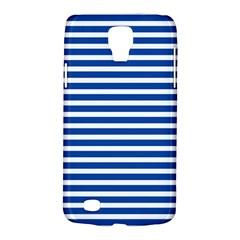 Horizontal Stripes Dark Blue Galaxy S4 Active by AnjaniArt