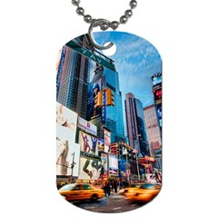 New York City Dog Tag (two Sides) by Onesevenart