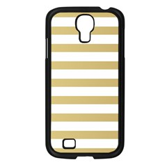 Horizontal Stripes Dark Brown Grey Samsung Galaxy S4 I9500/ I9505 Case (black) by AnjaniArt