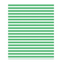 Horizontal Stripes Green Shower Curtain 60  X 72  (medium)  by AnjaniArt