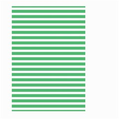Horizontal Stripes Green Large Garden Flag (two Sides) by AnjaniArt