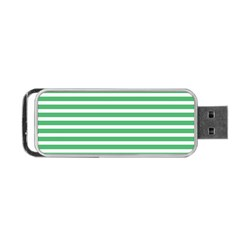 Horizontal Stripes Green Portable Usb Flash (two Sides) by AnjaniArt