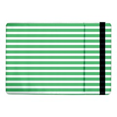 Horizontal Stripes Green Samsung Galaxy Tab Pro 10 1  Flip Case by AnjaniArt