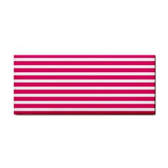 Horizontal Stripes Hot Pink Cosmetic Storage Cases by AnjaniArt