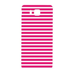 Horizontal Stripes Hot Pink Samsung Galaxy Alpha Hardshell Back Case by AnjaniArt