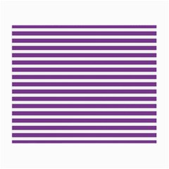 Horizontal Stripes Purple Small Glasses Cloth by AnjaniArt