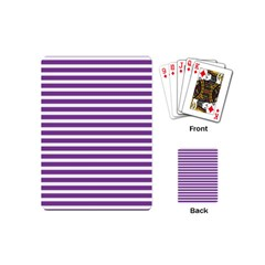 Horizontal Stripes Purple Playing Cards (mini)  by AnjaniArt