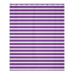 Horizontal Stripes Purple Shower Curtain 60  X 72  (medium)