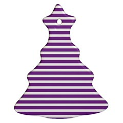 Horizontal Stripes Purple Christmas Tree Ornament (two Sides) by AnjaniArt