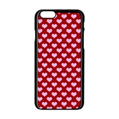 Hearts Love Valentine Pink Day Happy Wallpaper Apple Iphone 6/6s Black Enamel Case by AnjaniArt
