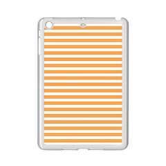 Horizontal Stripes Orange Ipad Mini 2 Enamel Coated Cases by AnjaniArt