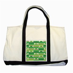 Mint Green Two Tone Tote Bag by AnjaniArt