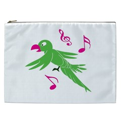 Parrot Bird Green Cosmetic Bag (xxl)  by AnjaniArt