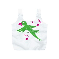Parrot Bird Green Full Print Recycle Bags (s)  by AnjaniArt