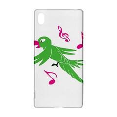 Parrot Bird Green Sony Xperia Z3+ by AnjaniArt