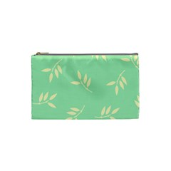 Pastel Leaves Cosmetic Bag (small)  by AnjaniArt