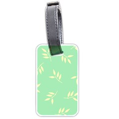 Pastel Leaves Luggage Tags (one Side)  by AnjaniArt