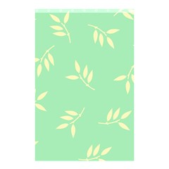Pastel Leaves Shower Curtain 48  X 72  (small)  by AnjaniArt