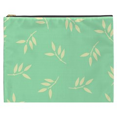 Pastel Leaves Cosmetic Bag (xxxl)  by AnjaniArt