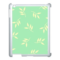 Pastel Leaves Apple Ipad 3/4 Case (white) by AnjaniArt