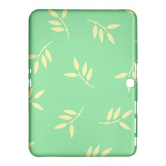 Pastel Leaves Samsung Galaxy Tab 4 (10 1 ) Hardshell Case  by AnjaniArt