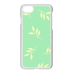 Pastel Leaves Apple Iphone 7 Seamless Case (white) by AnjaniArt