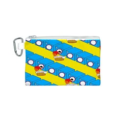 Machine Washing Clothes Blue Yellow Dirty Canvas Cosmetic Bag (s) by AnjaniArt